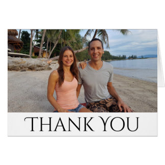 Photo Thank You Wedding Engagement, Bridal Shower Card