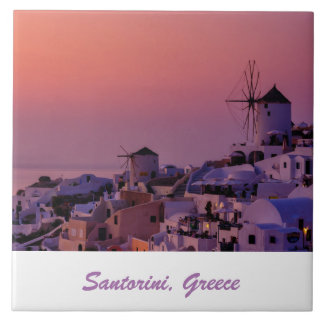Photo Tile - Santorini Sunset - Greece