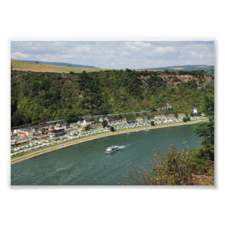Photo to the Loreley in the central Rhine Valley