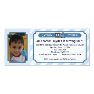 Photo Train Ticket - Light Blue Card