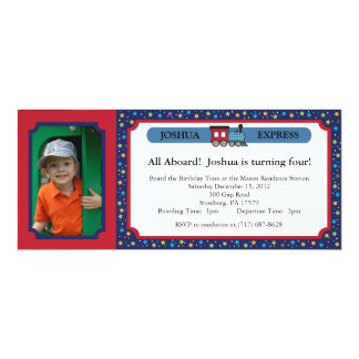 Photo Train Ticket - Red & Blue Card