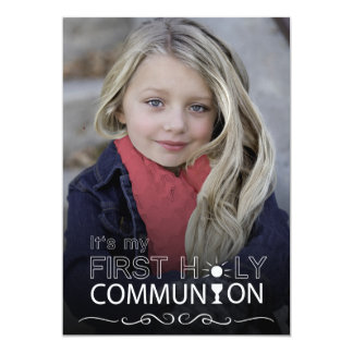 Photo Typography First Holy Communion - Invitation