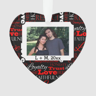 Photo Valentine's Day Word Collage Personalized
