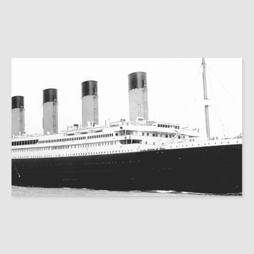 Photo vintage originale de Titanic Autocollant Rectangulaire