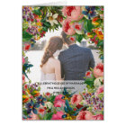 PHOTO Wedding Anniversary - Vintage ROSES Floral Card
