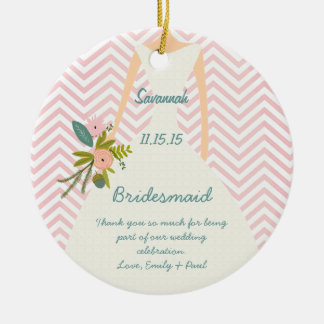 Photo Wedding Gown Bridesmaid Keepsake Gift Ceramic Ornament
