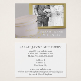 Photo Wedding Millinery Business Card