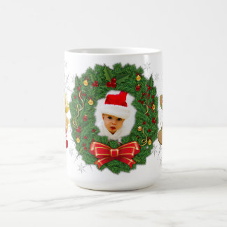 Photo Wreath, Gingerman, Candy Cain, Snowflakes Coffee Mug