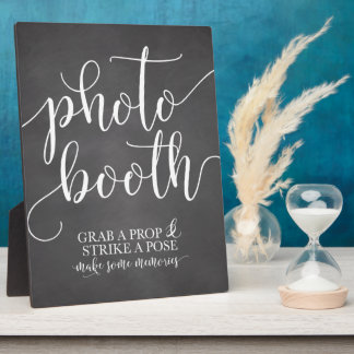 Photobooth Wedding Sign- Grab a Prop Strike a Pose Plaque