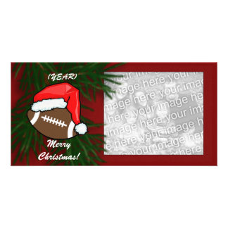 Photocard - Christmas Football Photo Greeting Card