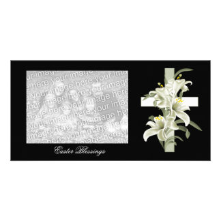 Photocard Easter Blessings Photo Card Template