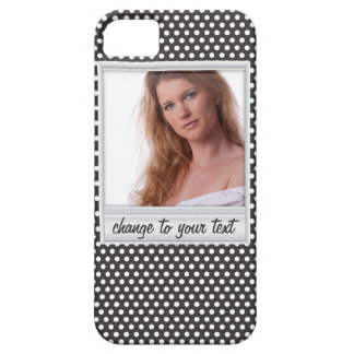photoframe sur le polkadot blanc et noir coques iPhone 5