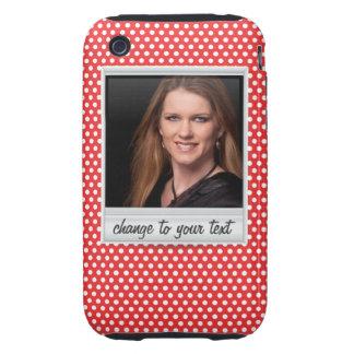 photoframe sur le polkadot blanc et rouge étui iPhone 3 tough