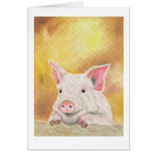 Photogenic piglet card