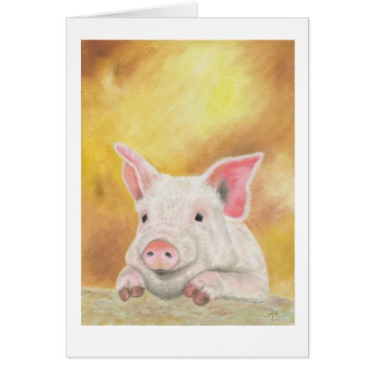 Photogenic piglet card