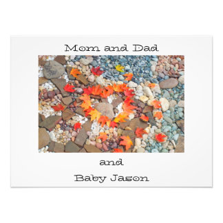 Photograhy art prints Mom Dad and Baby Name Heart Photo