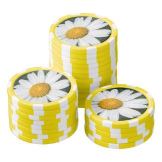 Photograph a margueritte, drop of water, make poker chips