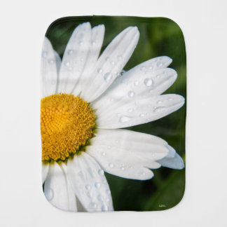 photograph, a margueritte, make green burp cloth