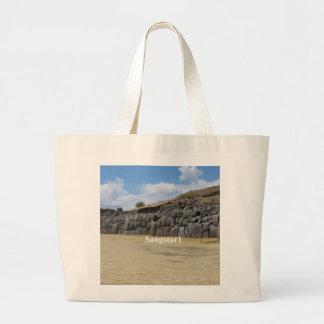 photograph at Saqsaywaman in Peru Large Tote Bag