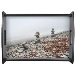 photograph inukshuk serving tray