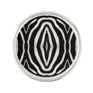 Photograph of a real Zebra's Fur Lapel Pin