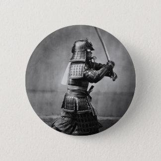 Photograph of a Samurai C. 1860 2 Inch Round Button