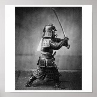 Photograph of a Samurai C. 1860 Poster