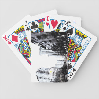 photograph of city the night bicycle playing cards