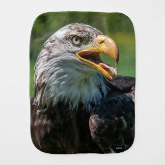 photograph of eagle burp cloth