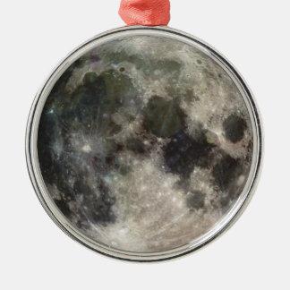 Photograph of Full moon Metal Ornament