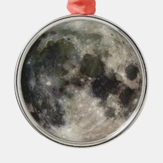 Photograph of Full moon Silver-Colored Round Ornament