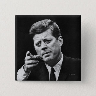 Photograph of John F. Kennedy 3 2 Inch Square Button