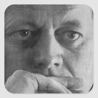 Photograph of John F. Kennedy Square Sticker