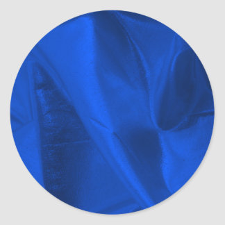 Photograph of Metallic Blue Lame' Round Sticker