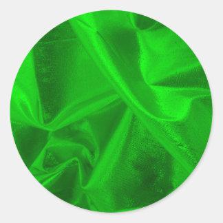 Photograph of Metallic Green Lame' Round Sticker