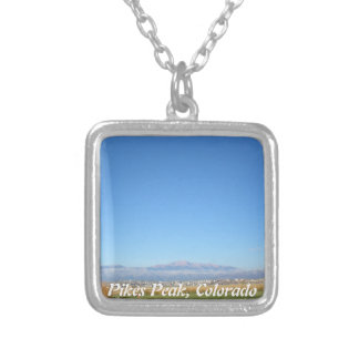 Photograph of Pikes Peak Colorado Silver Plated Necklace