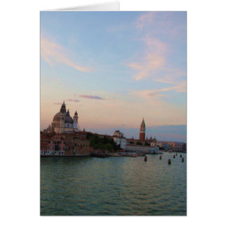 Photograph of Romantic Venice Lagoon Card