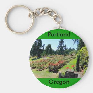Photograph of Rose Garden, Portland, Oregon Basic Round Button Keychain