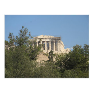 Photograph of the Ancient Greek Parthenon Ruins Postcard