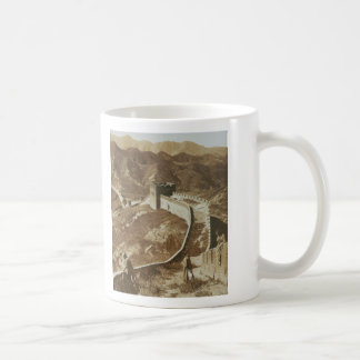 Photograph of The Great Wall of China from 1907 Classic White Coffee Mug