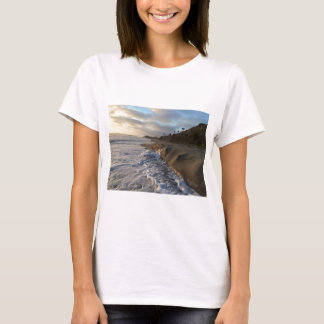 Photograph of the waves hitting the sand T-Shirt