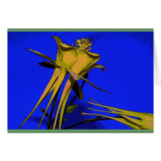 Photograph of yellow columbine card