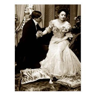 Photograph Vintage Lovers Postcard