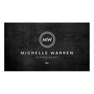 Photographe moderne du logo II d'initiales Modèle De Carte De Visite