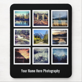 Photographer 9 Photo Grid Mouse Pad