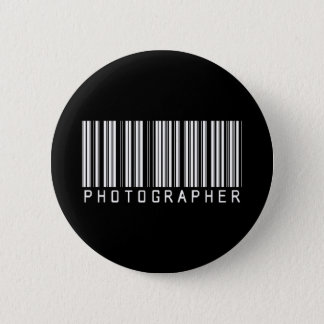 Photographer Bar Code 2 Inch Round Button