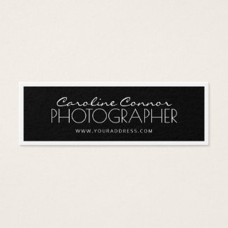 Photographer Black & White Bordered Card