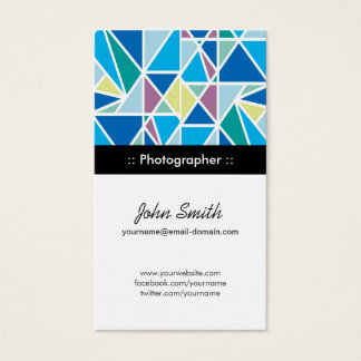 Photographer - Blue Abstract Geometry Business Card