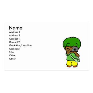 photographer boy business card template