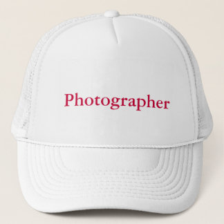 Photographer cap